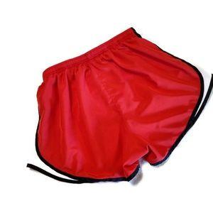 Nike Shorts - Nike Dri Fit Tempo Running Shorts Red & White L